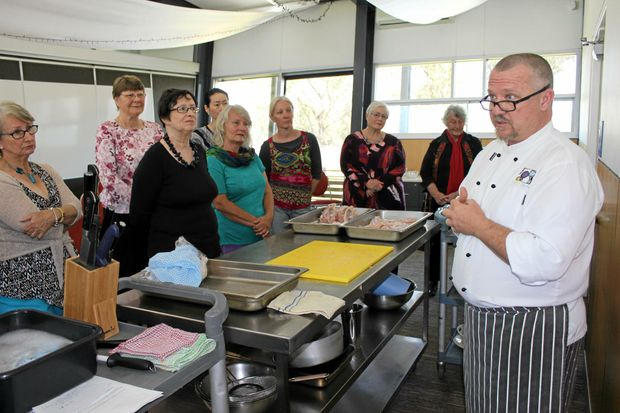 MASTER CHEF: Participants took part in a cook off at QCWT learning about healthy cooking and meal planning.