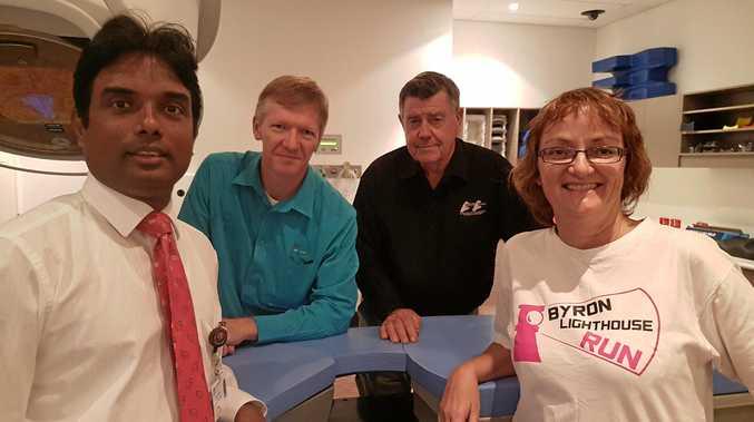 Dr Julan Amalaseelan, Stephen Manley, Crackin Cancer President Marshall Fittler and Brigid Kramer.