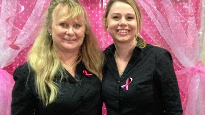 Dianne Marshall (left) Brigitte Erickson have a great time at the TAFE Queensland South West students Girls' Night In