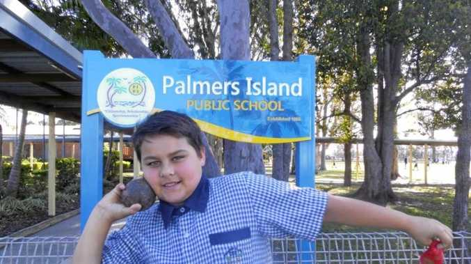 LAUNCH: Palmers Island student Jaylan Morris ready to compete for a state shot put title.
