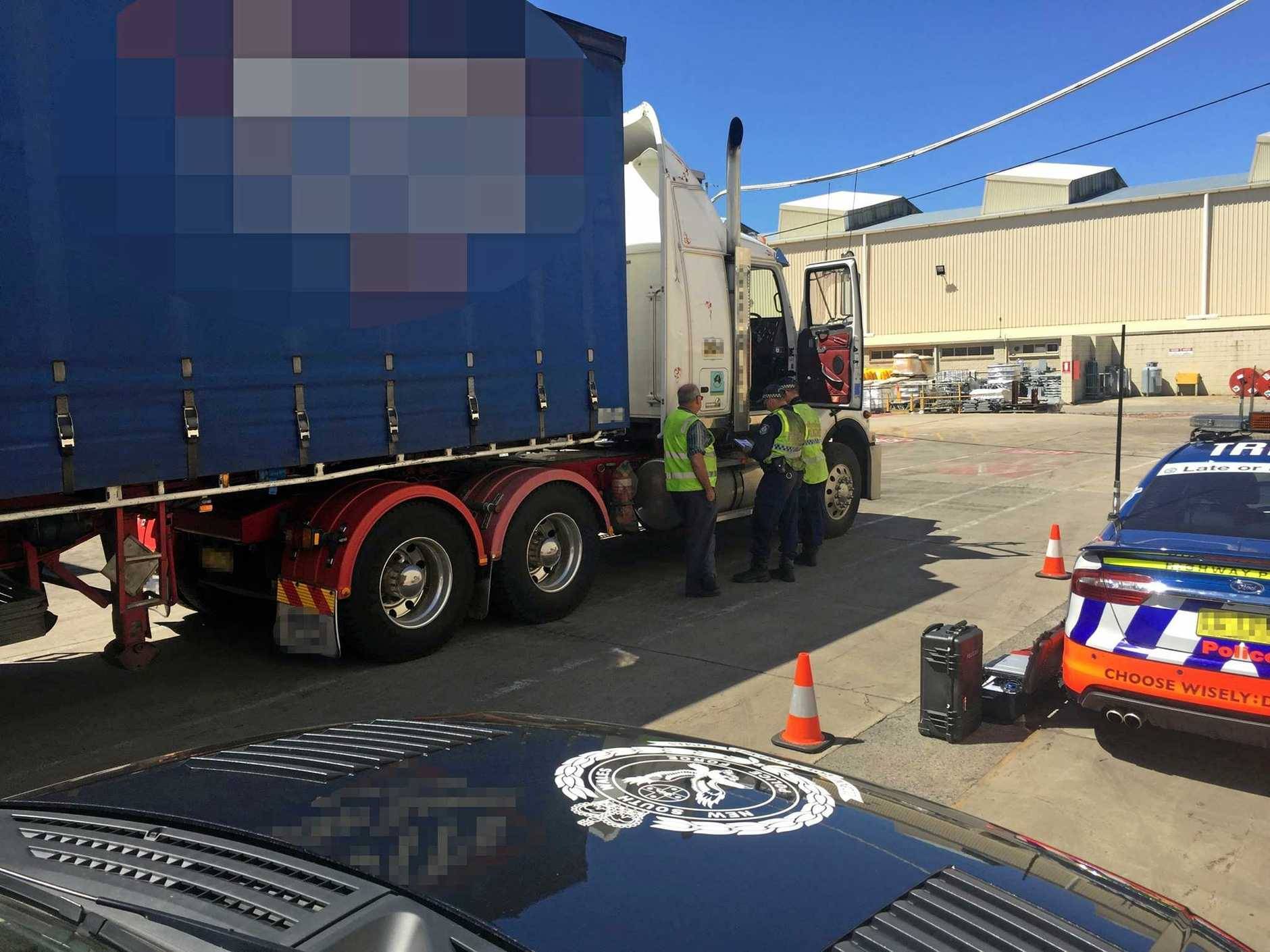 NSW police target a trucking company after their trucks were involved in a number of serious crashes.