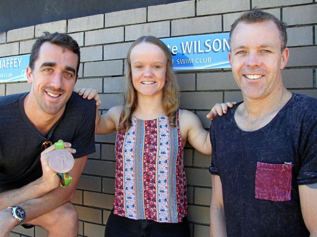 Tweed athletes Matt Abood, Kate Wilson and Bill Chaffey have their names added to the honour roll at the Tweed Regional Aquatic Centre in Kingscliff.