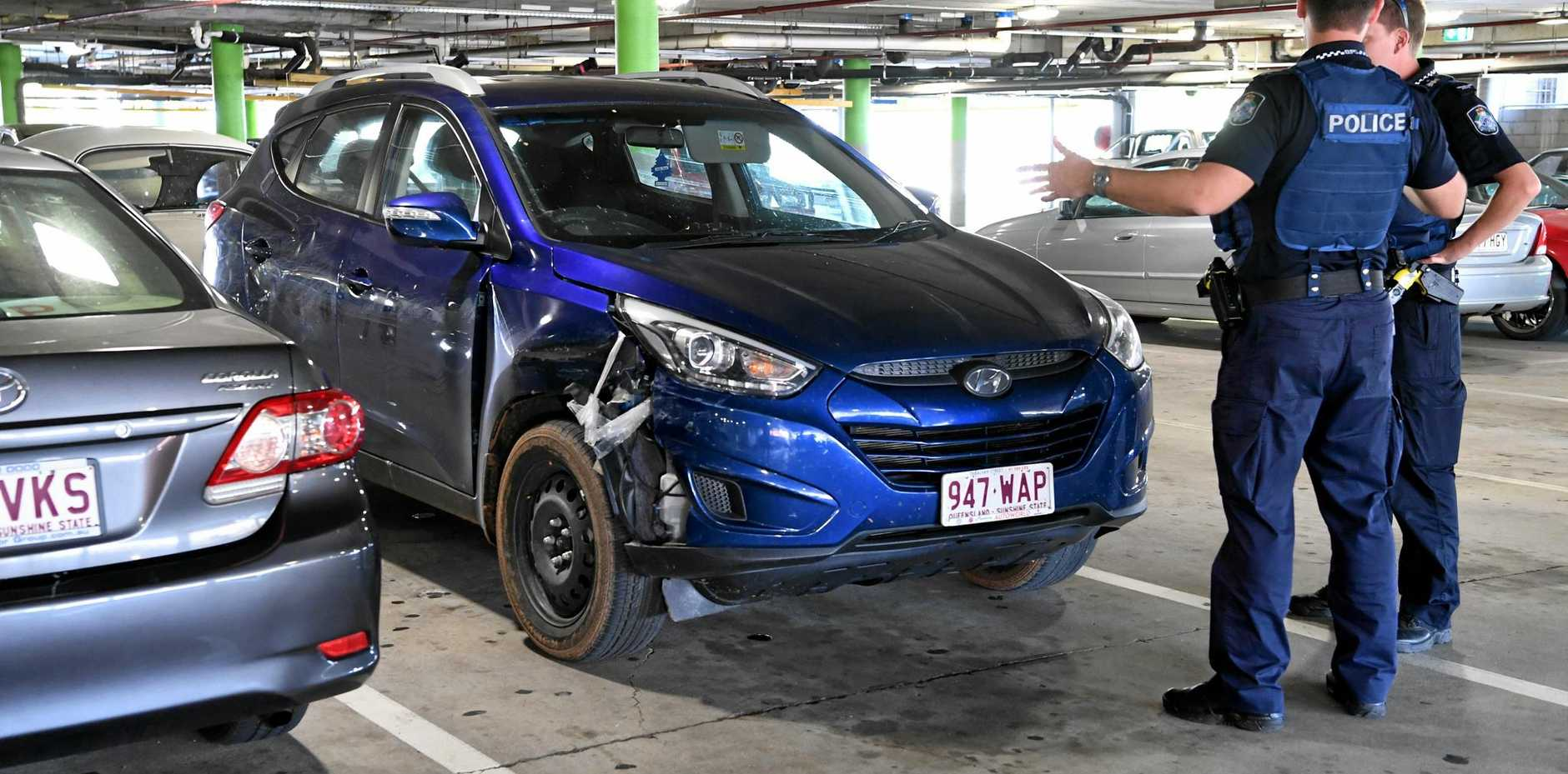 ARREST: A 21-year-old Walkervale man is in custody accused of a spate of car thefts and traffic offences, including the theft of car dumped at Hinkler Central.