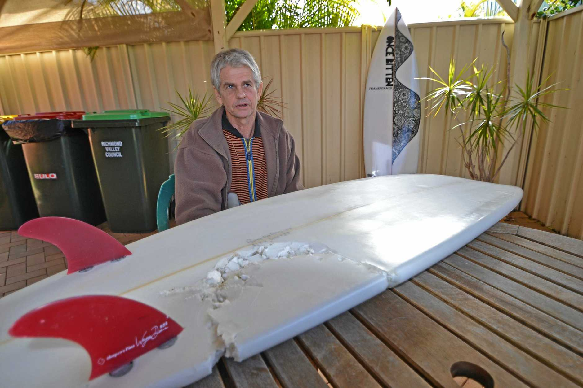 Alan Brown of Ballina is asking the government to provide protective measures before the summer holidays so incidences like Craig Ison's shark attack at Evans Head don't happen again.
