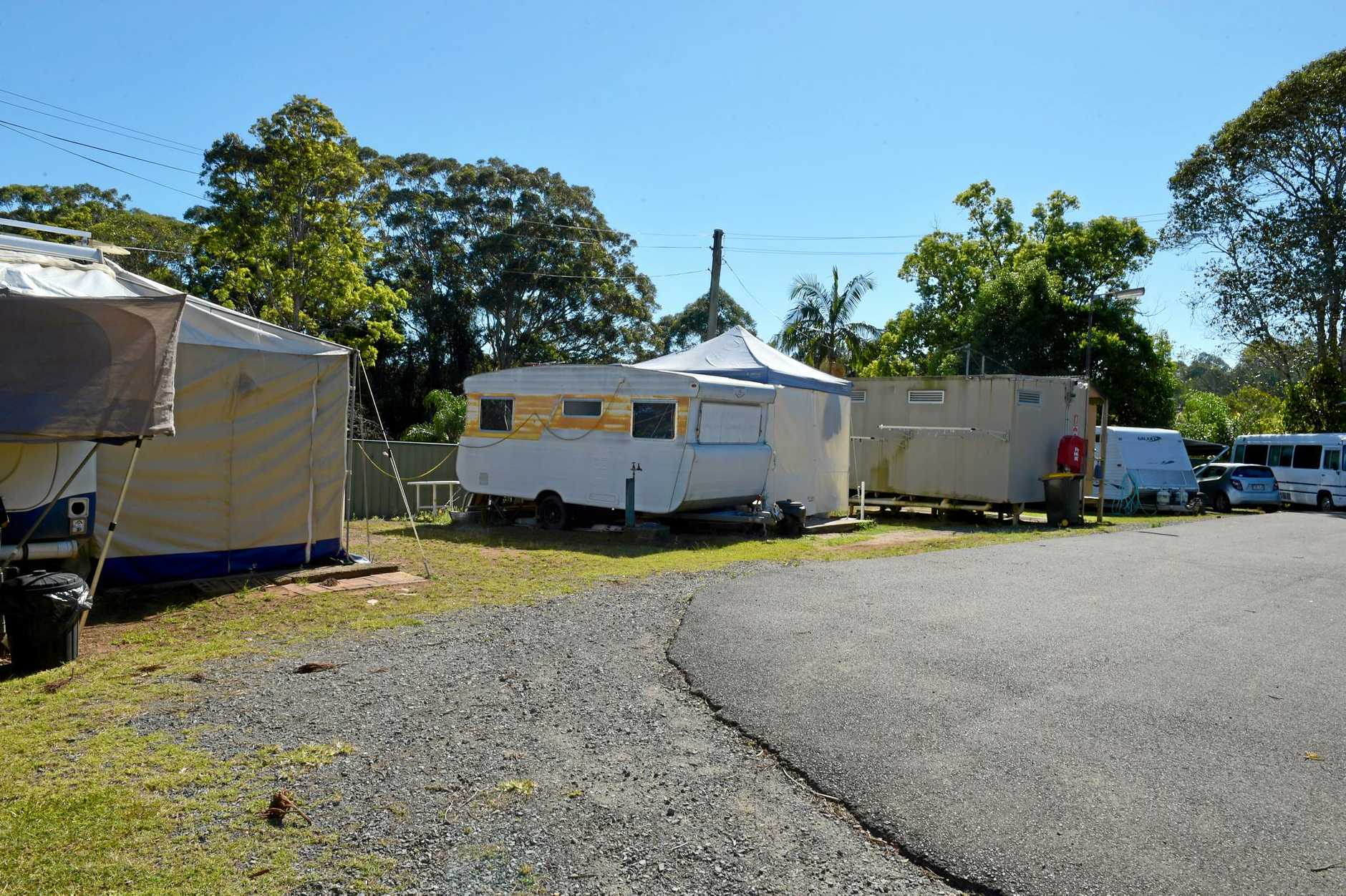 Wally Wallace says he has been told to leave his home at the Woombye Gardens Caravan Park.
