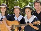 GLENNIE'S SONG:  ( From left ) Charlotte Lamshed, Kate Bellars and Penny Lamshed  with Josh Arnold releasing their song for Walk for Toowoomba .  Wednesday Oct 19, 2016.