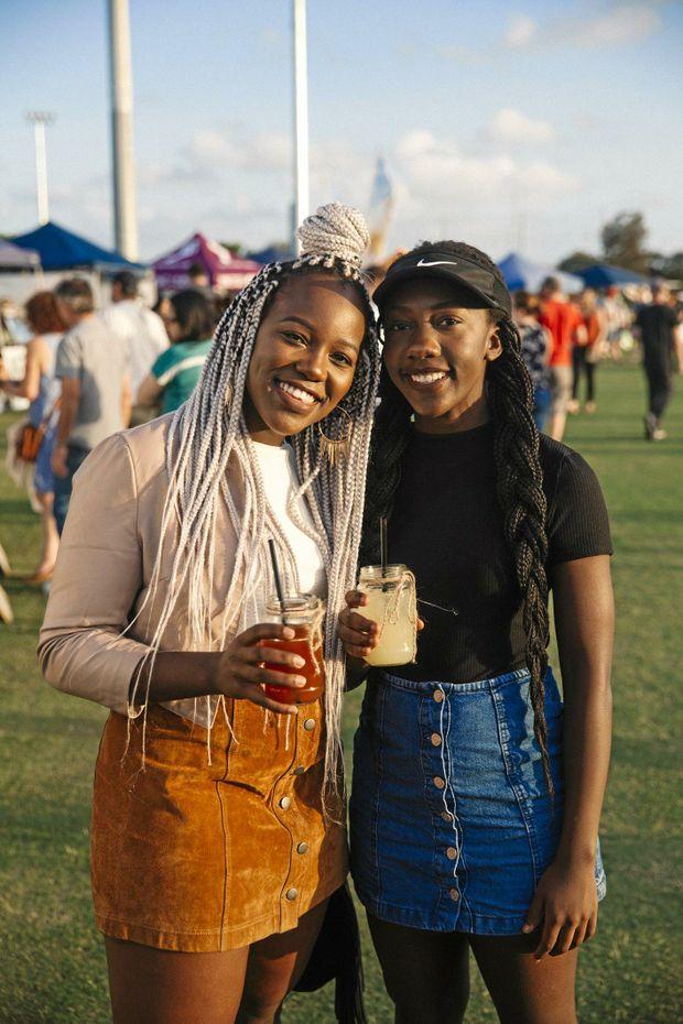 HARRUP PARK COUNTRY CLUB: Mukudzeiishe Mutize and Samantha Nyika.