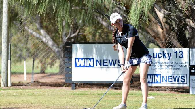 AWARD WINNER: Toowoomba golfer Darcy Habgood in action at a state tournament at Bargara.