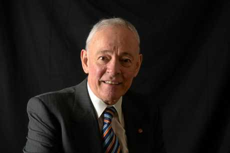 **FILE** A Feb. 29, 2016 file photo of Family First Party Senator Bob Day of South Australia posing for a portrait at Parliament House in Canberra. Family First senator Bob Day has quit parliament to deal with problems with his housing business group, Monday, Oct. 17, 2016.  (AAP Image/Mick Tsikas) NO ARCHIVING