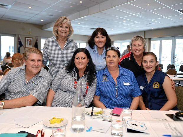 EMPOWERED: (Back from left) Carol Coleman, Rae Gate, Robbin Iddles (front) Bill Purcell, Renee Ivory, Desley Alward and Jaimi Thomas at the Gympie Business Leaders Seminar.
