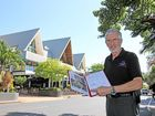 ON SCREEN: Ron Harris standing in front of the Beach Plaza where he proposes to set up two, 42-seat cinemas and a planetarium for Airlie Beach. Photo Sharon Smallwood / Whitsunday Times