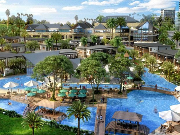 An artist impression of the Dusit Thani Brookwater Golf and Spa Resort.
