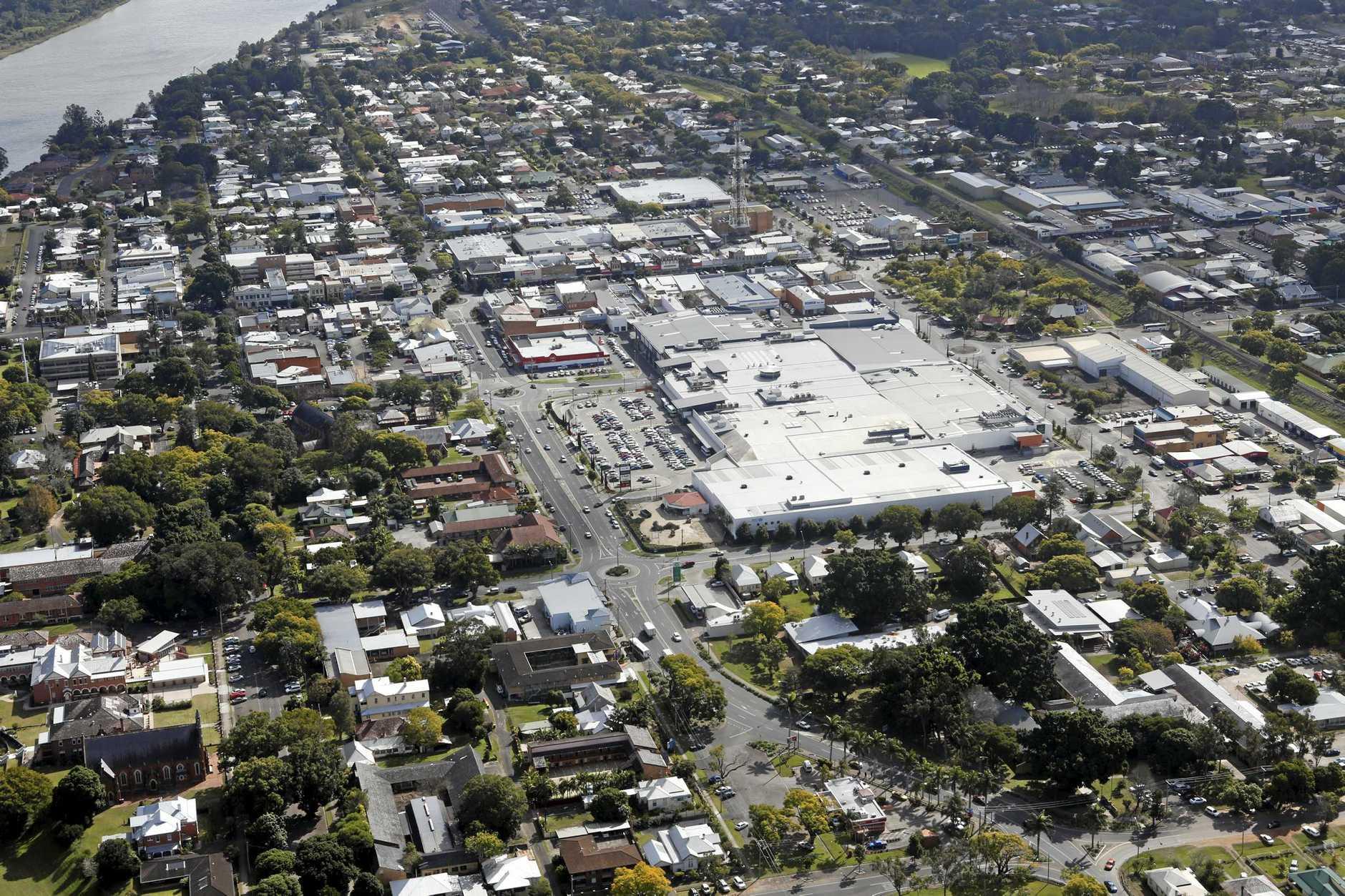 An aerial of Grafton.Photo Adam Hourigan / The Daily Examiner