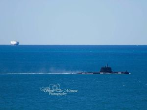 Navy sub spotted in Coast waters returning from exercises