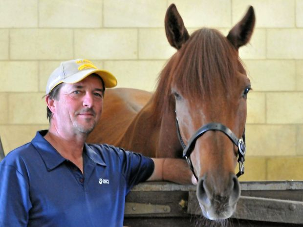 DECORATED: Barry Gill is one of the region's most successful trainers. (Below) The recently retired Unique Fuse pictured with Taylor Ratten.