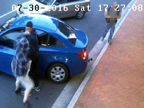 CCTV of an assault in South Grafton on July 30.