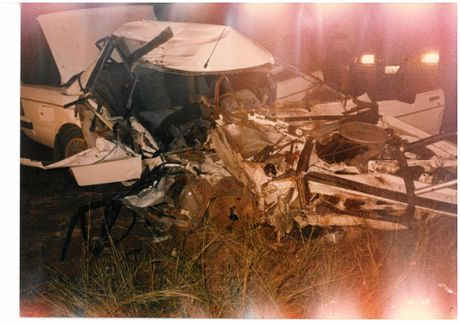 Photo evidence from the crash that changed Darren Thrupp's life forever.