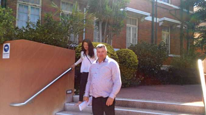 CRASH boatie David Malone and wife Yvonne leave Gladstone Courthouse.