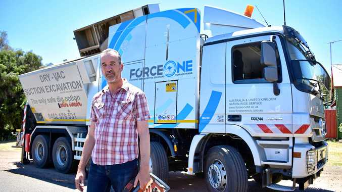 BIG TRUCK: The German Force One MTS vehicle, worth $1.08 million and weighing 26 tonnes, lives in Roma and is operated by Spiros Xypolitos.