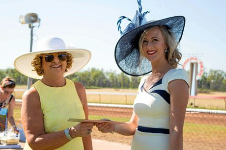 GREAT DAY OUT: Isaac mayor Anne Baker with Classic Ladies Fashion winner Ciara Siddins at a past Clermont Races.
