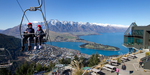 Queenstown as seen from the top of the Skyline gondola. Photo / Mark Mitchell