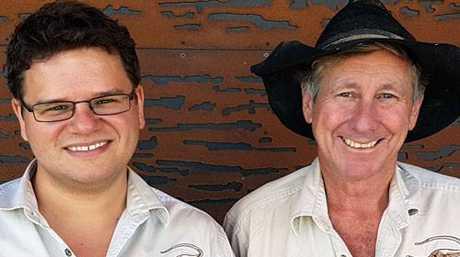 Dr Stephen Poropat and David Elliott