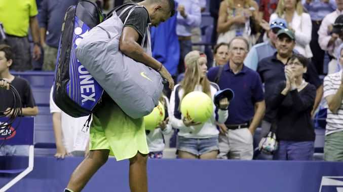 DISGRACED: The ATP has suspended Nick Kyrgios for eight competition weeks and fined him an extra $25,000 USD for conduct contrary to 'integrity' of tennis.