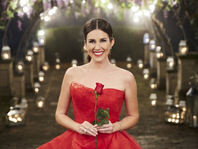Georgia Love pictured in a scene from The Bachelorette finale.