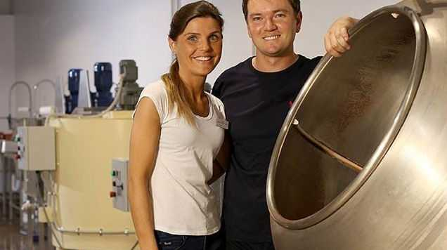 Chris Thomson and Amy Sargeantson are the masterminds behind the Noosa Chocolate Factory.