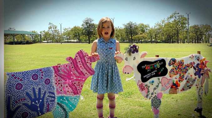 CRAFTY CATTLE: Arabella Rose with cows.