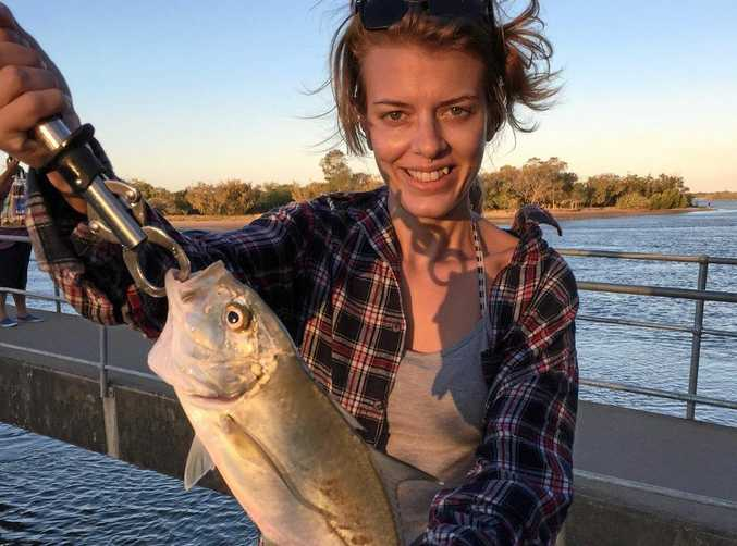 LANDED: This 38cm trevaly was landed in the late afternoon by Evie Hagens.