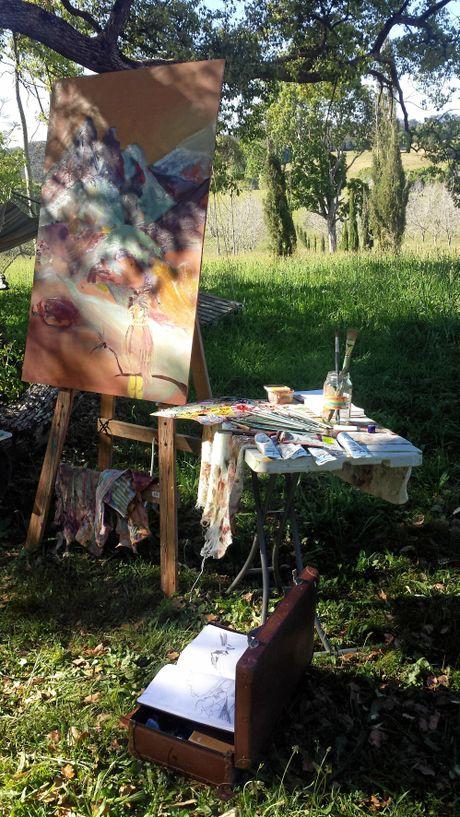Emily Imeson's outdoor studio.