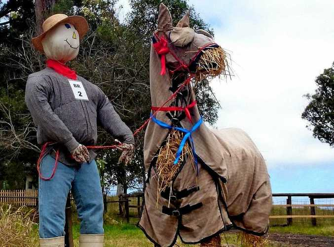 YOU CAN LEAD A HORSE: Last year's Scarecrow Fest winner from local artist Tania Trewren.
