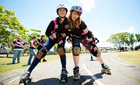 Rocky Roller Derby's Sirius Whack and Fury Floss are ready for this weekends bouts.