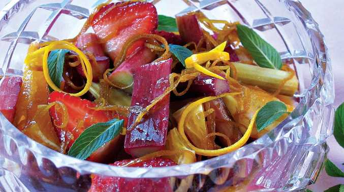 Serve this baked rhubarb with any seasonal fruit to make a delicious compote.