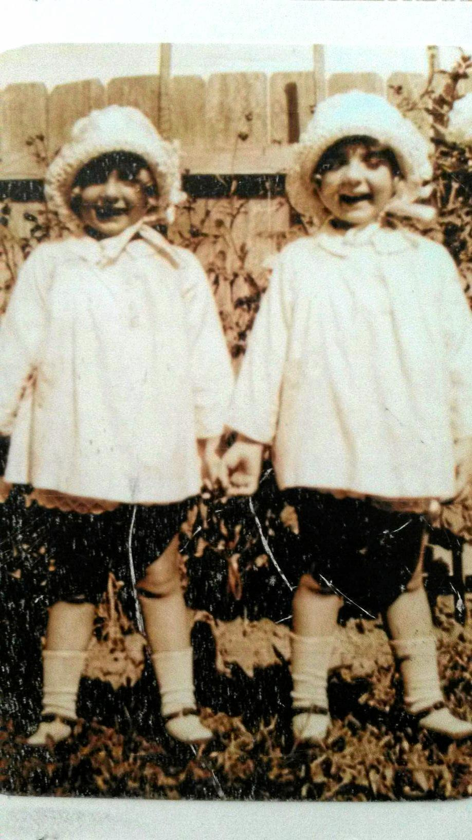 The twins when they were children in Sydney