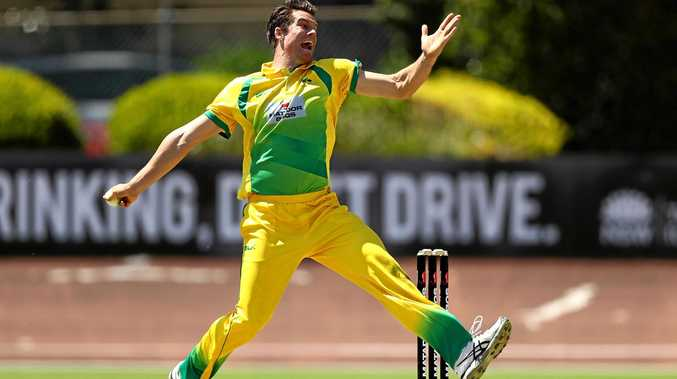 RISING TALENT: James Bazley playing for the Cricket Australia XI in a domestic one-day match earlier this month.