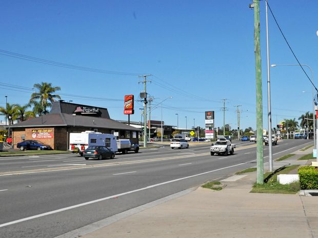 The Bruce Hwy in Gympie.