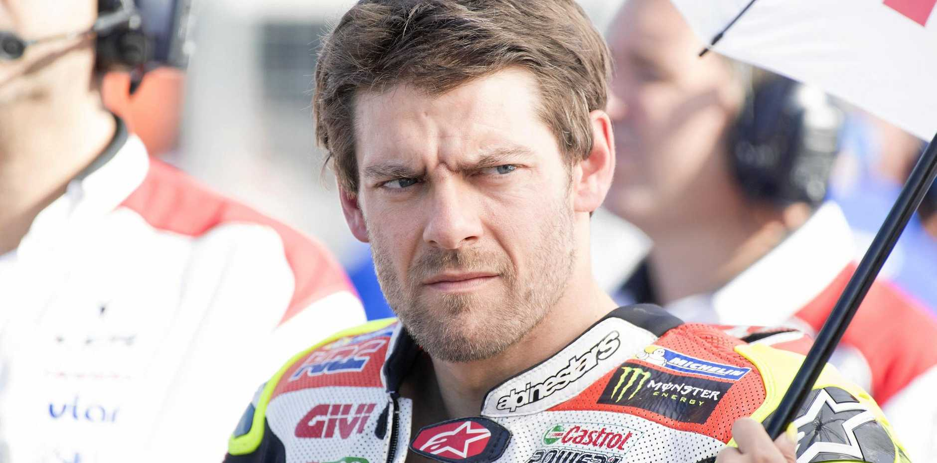 Cal Crutchlow of Great Britain had the fastest time in practice for the Australian MotoGP.
