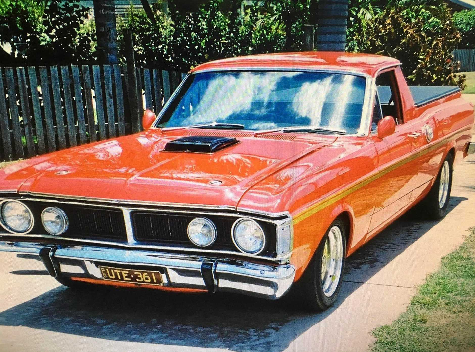 MUSCLE POWER: Tim Ryan, of Mooloolaba, is selling his 1971 Falcon XY CS ute, which has only done 100km max in the last 14 years.