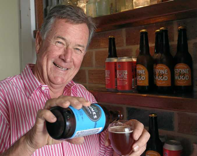 CHEERS: Gympie Rotary Club president Spencer Slatter samples a craft beer ahead of the Craft Beer Open Door on October 29-30.