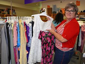 Market day attracts customers to recycled clothing store
