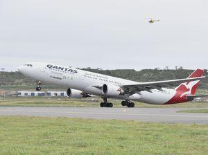 First international passenger flight