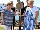 ALWAYS REMEMBERED: Cheryl Roberts, Melissa Henderson, Brieana Andersen, Michael Schofield and Lyn Chivers at the memorial ceremony for Matthew Roberts and David Chivers who were tragically lost at sea on April 4, 2016.