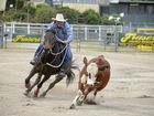 Rohan Marks, of Clermont, pictured in campdraft action in Warwick, was in the placings with one of his horses at Chinchilla on Saturday.