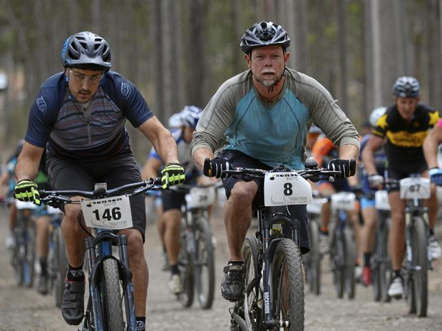 GRIPPING STUFF: The annual Grafton GBomb 12-hour race at Bom Bom State Forest at South Grafton on Saturday.