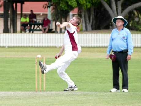 CRCA opening bowler Nathan Blanch kept the batsman quiet and took an early wicket in the opening overs of the Lismore innings during the representative game at Ellem Oval on Sunday.
