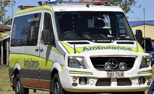 A Queensland Ambulance Services spokesman said the 000 call was received at 2.45pm on Sunday.