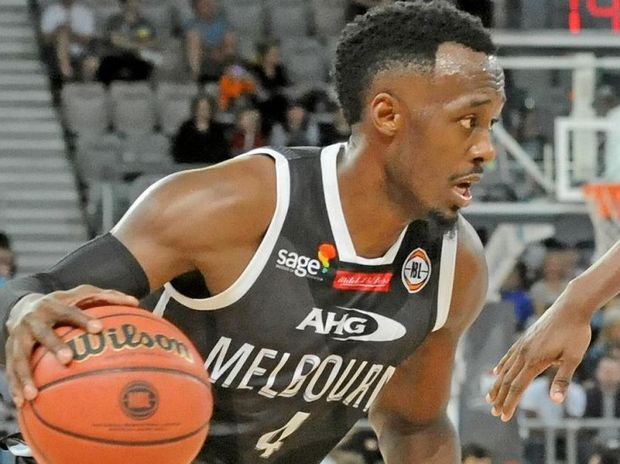 Cedric Jackson of Melbourne United in action.