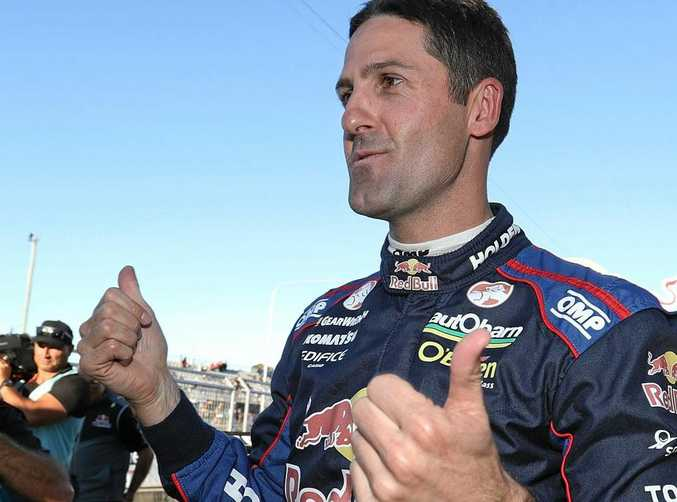 ON TOP: Jamie Whincup triumphed in the Gold Coast 600 yesterday.